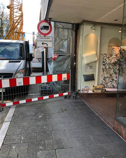 Verbesserung für die anliegenden Einzelhändler der Baustelle an der Lichtentalerstraße