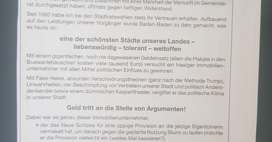 CDU-Stadtrat Klaus Bloedt-Werner und sein Einsatz für die Wahrheit